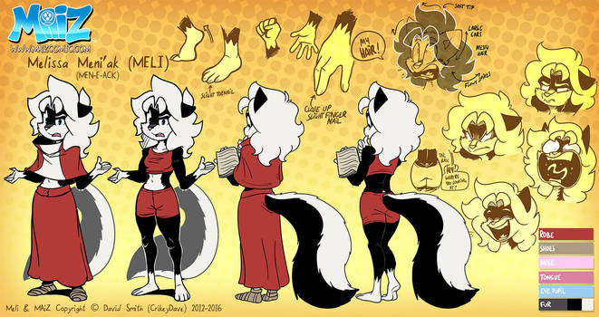 MAiZ: Meli reference sheet by SupaCrikeyDave