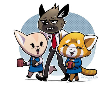 Aggretsuko - Office Pals by SupaCrikeyDave