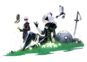 NiER Automata by SupaCrikeyDave
