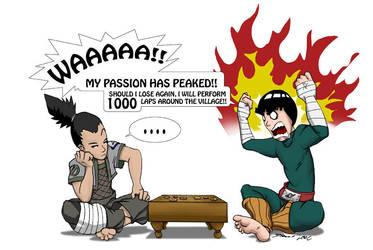 Shikamaru VS Rock Lee by SupaCrikeyDave