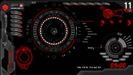 My S.H.I.E.L.D Rainmeter by ArticShifter
