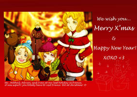 APH: merry x'mas greeting card by MieKuning