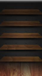 iPhone 5 Retina Walnut Shelves by Darnton