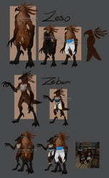 Zeso and Zeben Sheet by Z-KarmaCage