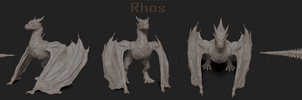 Rhos Dragon Zbrush Sculpt WIP by LindseyBurcar
