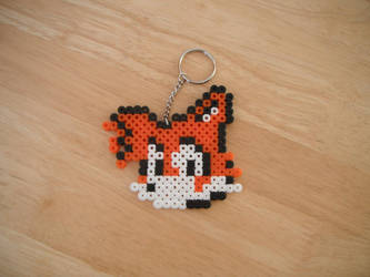 Tails Hama Keyring by TombRaiderKuchen