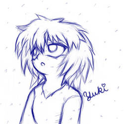 15-Minute Child Bakura in Snow by yukidragon