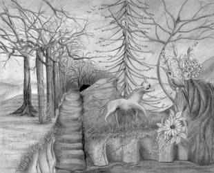 Fantasy Forest by LucinaArt