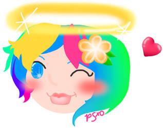 Rainbow Halo by PinkSkullxo