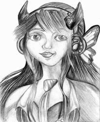 Cartoon Portrait by PinkSkullxo