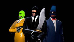 Spy's Creed - Three Spoys Portrait by MisterMisteroO