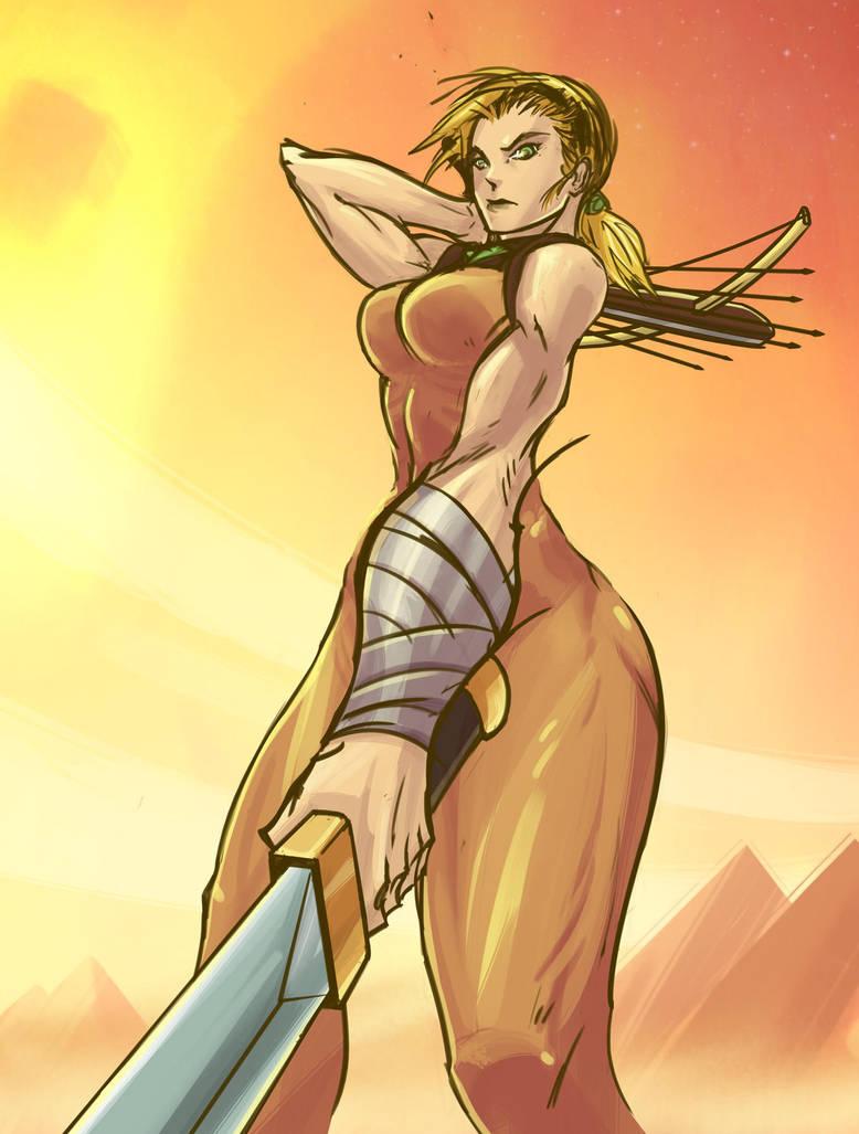 gladiator chick by Nexxorcist