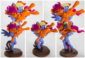 :Commission: Raspberry Dash and Cuddleloo by dustysculptures