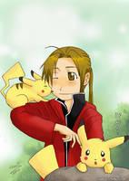 Alphonse et Pikachu by Charln
