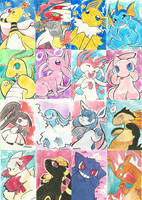 Watercolor pkmn by Charln