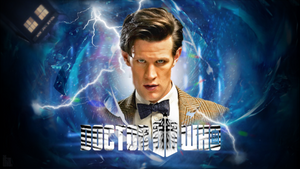 50th Anniversary Matt Smith Wallpaper Ver. 1 by theDoctorWHO2