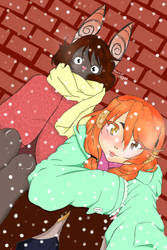 Honey and Chise in Winter by RoyalPaint