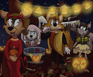 Halloween Party by Fawnadeer