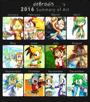 2016 Art Summary by debrodis