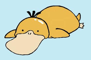 Chubby psyduck by Kuukio