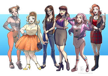 Six girls - Commission by ElenaFerroli