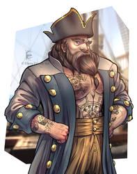 Dwarf Pirate - Commission by ElenaFerroli