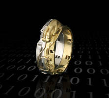 Cyber Age Ring by gamerjewelry