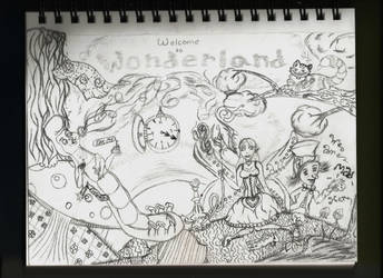 Welcome to Wonderland (lineart) by Kettin