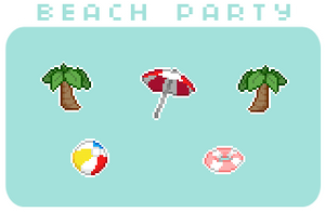 F2U Beach Party Pixel Pack by TheHumanHeart