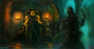 Audience with a Warlord by saltytowel