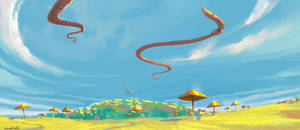 Sky Worms by saltytowel
