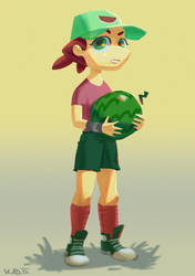 Watermelon Girl by saltytowel