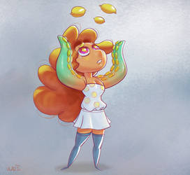 Lemmie the Lemon Girl by saltytowel