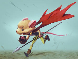 Mouse Warrior by saltytowel