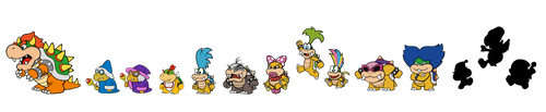 Paper Mario - The Main Koopa Clan by LooneyTunerIan