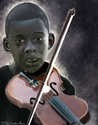 Diego the violinist by Aymen-Ouertani