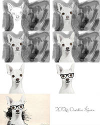 Hipster dog steps by Aymen-Ouertani