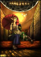 LoZ:MM - Link and Anju by Narsilion