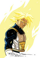 DRAGON BALL Z: MIRAI TRUNKS SSJ COLOR by Frederic-Mur