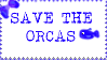 Save The Orcas (stamp!) by LouiseatHorrorLane
