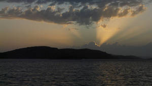 Sunset in NP Kornati by CaenRagestorm
