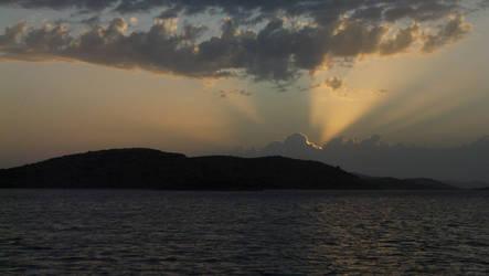 Sunset in NP Kornati by CaenRagestorm