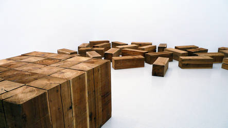 Cubes as an art by CaenRagestorm
