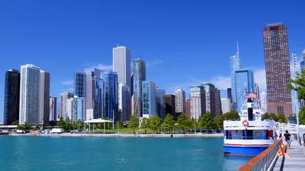 Chicago navy pier view by CaenRagestorm
