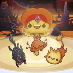 Fire Kingdom - Kawaii Adventure Time by SquidPig
