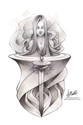 Weekly Sketch #51 - Lady of the Lake by SaraPlante