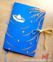 Paper Boat Handmade Book by missbeautifool