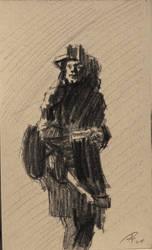 Quick sketch of Bono by TheAjsAx