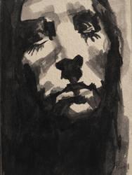 Ink sketch of myself by TheAjsAx