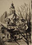 Ink sketch of church in Kotorz Wielki by TheAjsAx